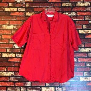 Size 38/18W Red Gloria Vanderbilt Blouse